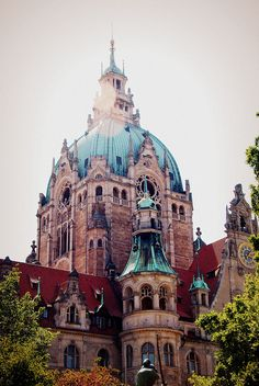 Rathaus in Hannover ( I have been here it has a really cool glass lift that takes you right to the top & the feeling of going around the curve of the dome is freaky awesome!)
