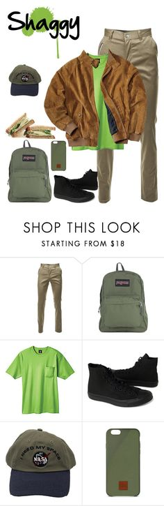 """Norville ""Shaggy"" Rogers pt.4"" by krhymell ❤ liked on Polyvore featuring JanSport, Hanes, Converse, Native Union, men's fashion and menswear"