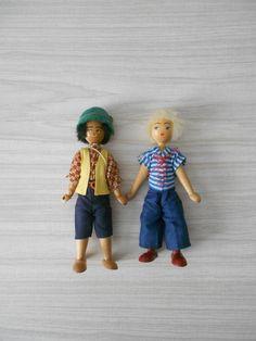 vintage folk art polish wooden dolls / blonde girl / by simplychi