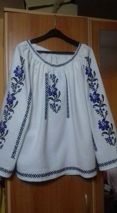 Blouse Styles, Blouse Designs, Embroidery Patterns, Cross Stitch Patterns, Mexican Shirts, Ukrainian Dress, Palestinian Embroidery, Embroidered Clothes, Cross Stitch Flowers