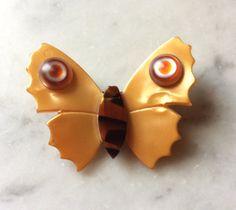 Lea Stein Paris Vintage BUTTERFLY  brooch Rare by DecoFashion