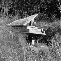 """""""In the flu pandemic that ravaged the world in 1918, one of the people who lost their lives was a British man named Harry Thornton, who was a pianist that entertained troops during the First World War. While it may have been a loving tribute to the 35-year-old man, the piano has since decayed and the top of the piano has been lost. It is a haunting image that reminds us that nothing lasts forever."""""""