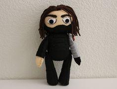 Winter Soldier Bucky Barnes Inspired Felt Doll by markhamasylum, $45.00