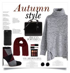 """Autumn!🍁❤"" by xanniee on Polyvore featuring Chicwish, Roberto Festa, Mark Cross, Hermès, Smashbox and MAC Cosmetics"