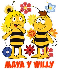 Maya y Willy Classic Cartoon Characters, Classic Cartoons, 80 Cartoons, Animated Cartoons, Bee Clipart, Kool Kids, Old Anime, Bee Crafts, Infancy