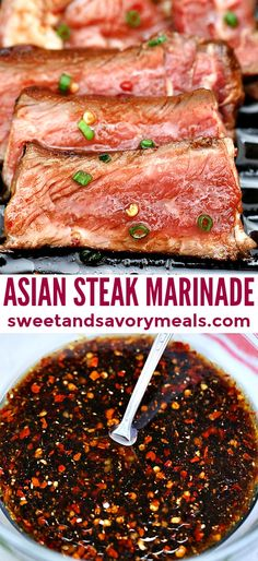 Asian Steak Marinade is oozing with umami! If you want to turn your steak into something more flavorful rather than just salty, then, this is perfect! #asianrecipe #steakmarinade #steak #grilledsteak #sweetandsavorymeals