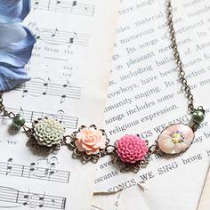 blooming ardesia indie necklace