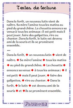 texte-ameliorer-vitesse-de-lecture-fluence-lire-par-groupes-de-sens-le-lutin-cp-ce1 French Practice, School Organisation, French Worksheets, Reading Comprehension Activities, French Expressions, 5th Grade Reading, French Classroom, Speech Language Pathology, French Lessons