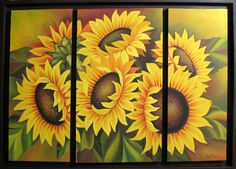 Girasoles. Miguel Tapia Table Lamp, Paper, Painting, Home Decor, Sunflowers, Home, Art, Lamp Table, Room Decor
