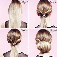 Não tem tempo para se arrumar de manhã? Estes penteados só demoram 3 minutos! #cabelo #penteados #tranças #coque