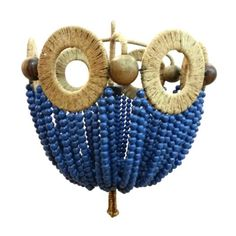 Blue Bead Chandelier