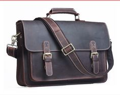g handmade crazy horse leather briefcase messenger bag