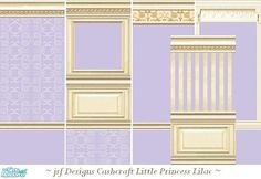 jsf Designs Little Princess Lilac #Victorian #wallpaper #paint #paneling #parklane #TS2 #thesims2
