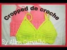 Top-cropped em Crochê, com Pérolas - YouTube