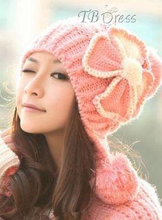 Glamorous Nueva llegada del nudo del arco de punto Espesar Hilados de lana Sombrero