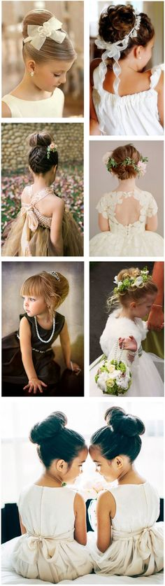 Fashion Kids(Simple Wedding Hair) Wedding Hairstyles For Girls, Kids Updo Hairstyles, Hairstyles 2018, Flower Girl Hairstyles, Little Girl Hairstyles, Toddler Wedding Hair, Wedding With Kids, Bridesmaid Hair Children, Updos For Kids