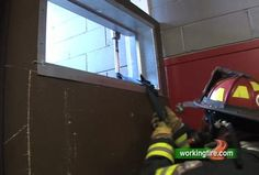 """This is the first of a two-lesson series on firefighter self-rescue drills. Basement fires or falling into a basement are every firefighter's nightmare. This lesson demonstrates different ways of """"bailing up"""" out of a basement using a Halligan tool and webbing."""