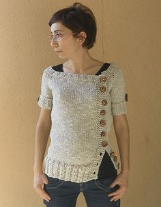Ravelry: KnittingEla's Summery Buttery Buttony Sweater-y
