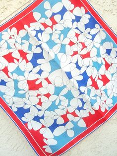 Butterfly Dance - a collector's favorite, vintage 1960's Vera Neumann Lucky Ladybug Hand-Painted Scarf