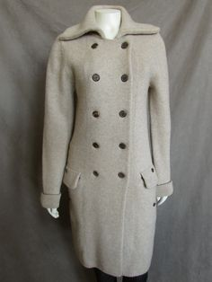 Pauw Amsterdam Long Oatmeal Cashmere Blend Sweater Coat