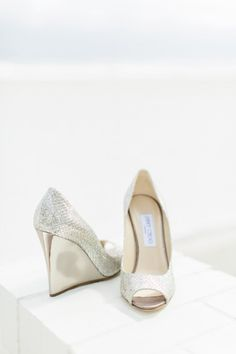 Jimmy Choo wedges for the bride