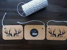reindeer gift tag [kraft card & bakers twine] by ivy invite