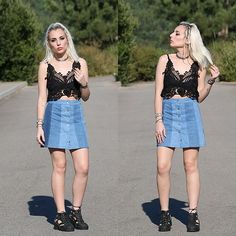 Get this look: http://lb.nu/look/8323763  More looks by Cátia Gonçalves: http://lb.nu/theblackeffect  Items in this look:  Sammydress Lace Top, Pull & Bear Skirt, Jeffrey Campbell Shoes Cut Out Boots   #bohemian #edgy #grunge #portugal #porto #oporto #dress #gypsy #bohostyle