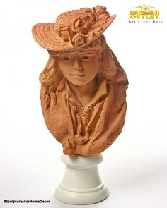 In 1864, Auguste Rodin met a seamstress named Rose Beuret. She became his lifetime companion and modeled for many of his works. In this portrait, Rodin celebrates their association with this charming interpretation of Rose Beuret with a straw hat. The reproduction is colored after the original terracotta clay Rodin used for his original. #SculpturesForHomeDecor #ArtStoreOnline #TheMuseumOutlet Visit: https://www.themuseumoutlet.com/sculptures