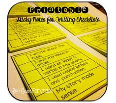 You can print on sticky notes!!!  This blogger made writing checklists for her kids.  Love!!!