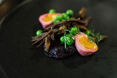 Muttonbird, Smoked Beetroot, Pea Vinaigrette, Quail Egg