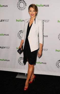 Stana Katic in Helmut Lang
