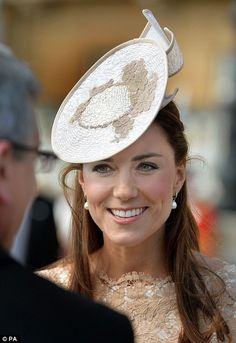 Family affair: He was joined by the Duchess of Cambridge and the Queen...