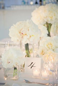 White Flowers & centerpieces