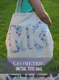 We always need an extra bag, and these monogrammed bags are the perfect DIY for back to school!