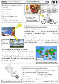 fiches cycle 3 sur l'énergie