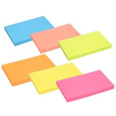 Packs of Jot Neon Sticky Notes, in. Office Basics, Bubble Wands, Index Cards, Office And School Supplies, Sticky Notes, Bubbles, Dollar Tree, Neon, College Life