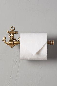 Brass Anchor Toilet Paper Holder - anthropologie.com