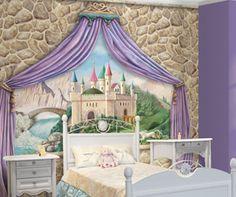 Princess Castle- add stone around castle    #DiaperscomNursery