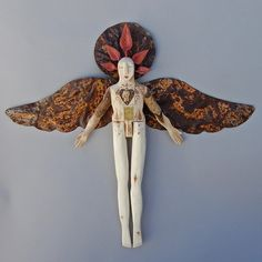 Lost and found Angel  Red Leaf Crown by ElizabethFrank on Etsy