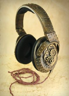 Steampunk Headphones made from the legendary Sennheiser HD 419.