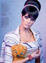 Isabeli em editorial de beleza na Glamour com cabelos de Diego Américo | AMUSE-BLOG
