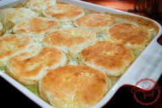 Homemade Chicken and Biscuits are seriously one of my favorite things to eat - so delicious.