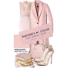 • Rose Quartz // Pantone 2016 • by letlove on Polyvore featuring moda, Ariella, Windsor Smith, women's clothing, women's fashion, women, female, woman, misses and juniors