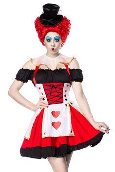 Red Queen Kostuem schwarz-rot-weiss 1-14346-059