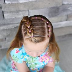 """371 Likes, 12 Comments - Tiffany ❤️ Hair For Toddlers (@easytoddlerhairstyles) on Instagram: """"Side pull through braid with an elastic accent. The side pull through part was inspired by…"""""""