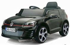 COCHE INFANTIL VW WOLF GTI NEGRO 12V RC niños. Asiento cuero y ruedas goma…