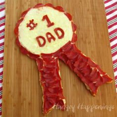 Award your #1 dad with a Pepperoni Pizza Ribbon this Father's Day