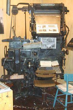 Lynotype zetmachine, meest gebruikt voor kranten