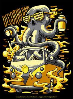 Octopus by anggatantama.deviantart.com on @DeviantArt