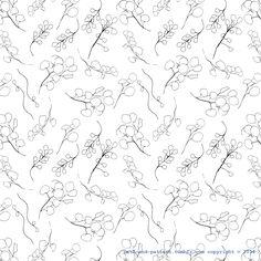 plant drawing pattern
